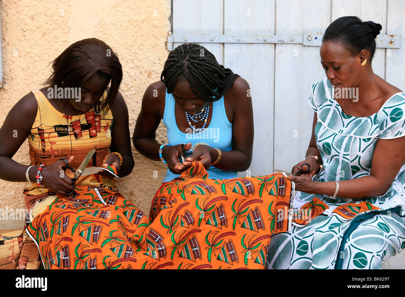 Tailoring class, Saint Louis, Senegal, West Africa, Africa - Stock Image