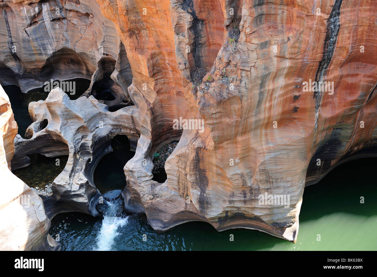 Bourke's Luck Potholes, Blyde River Canyon in Mpumalanga Province, South Africa - Stock Image