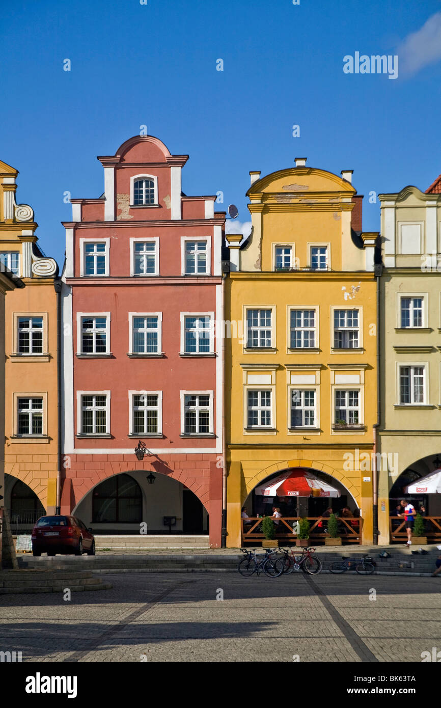 Twon square in Jelenia Gora, Poland - Stock Image