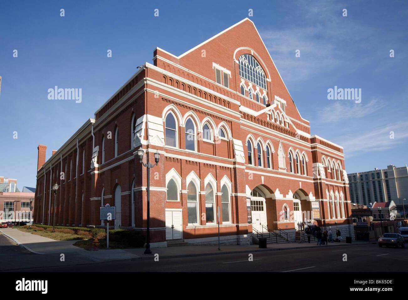 ryman auditorium, original site of grand ole opry, nashville stock