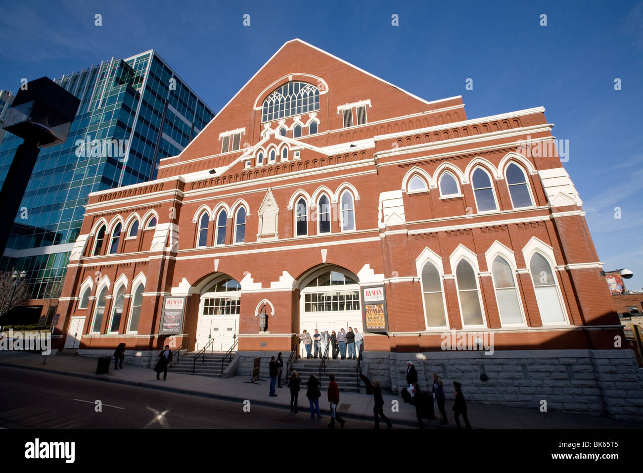 ryman auditorium, original site of grand ole opry, nashville stock