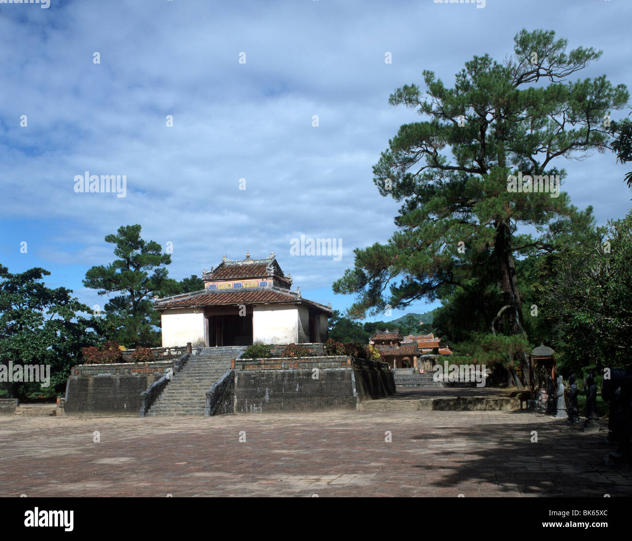 Most graceful of the eight Nguyen Dynasty tombs, UNESCO World Heritage Site, Royal Mausoleums, Hue, Vietnam - Stock Image