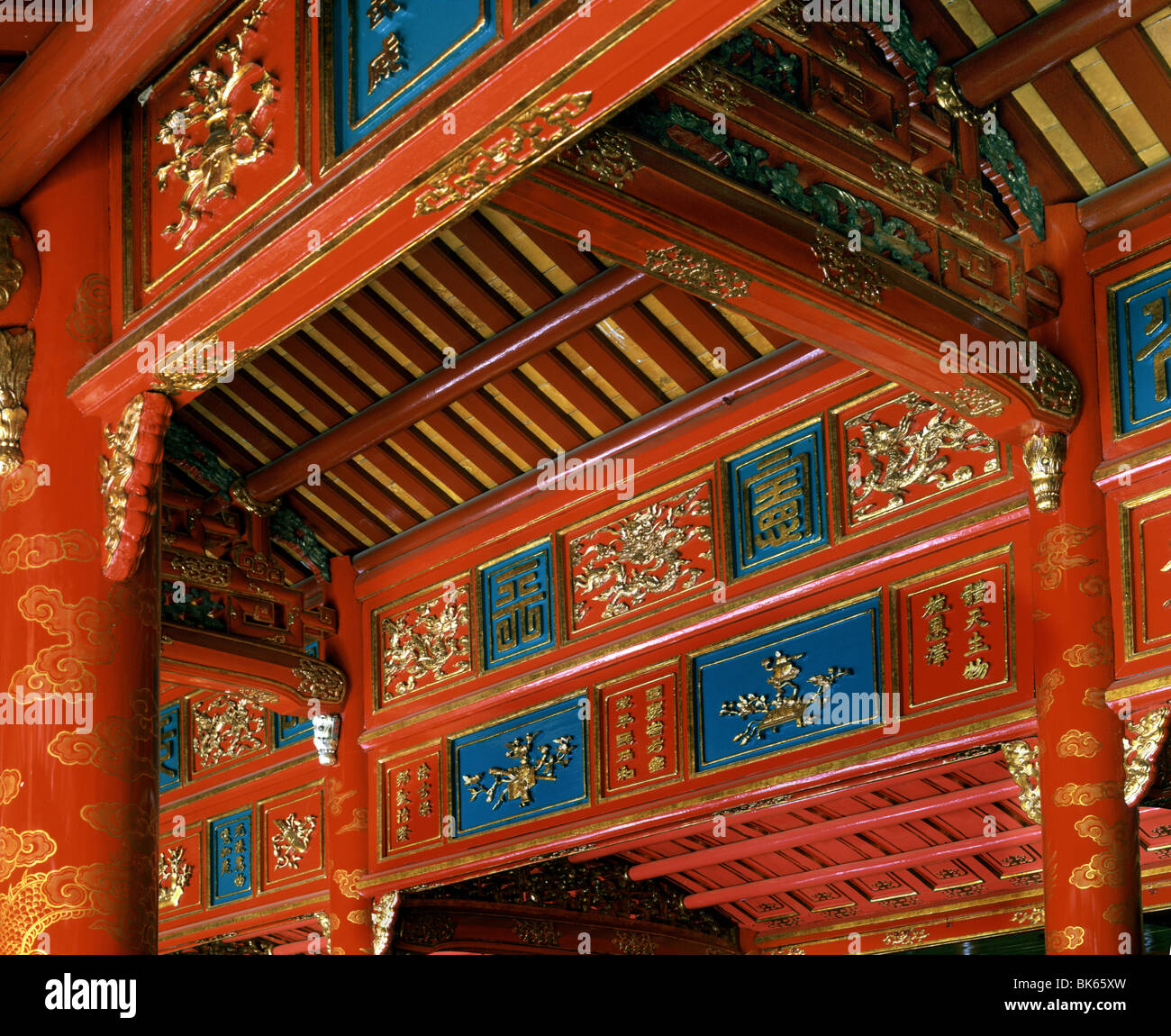 Chinese influence in the architecture, Royal Mausoleums, Hue, Vietnam, Indochina, Southeast Asia, Asia - Stock Image