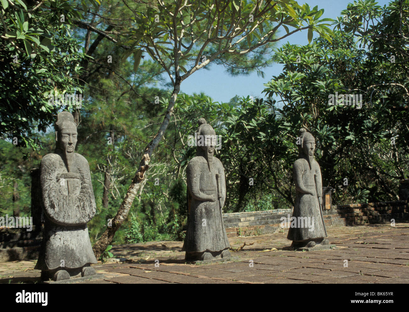Statues at Royal Mausoleums, Hue, Vietnam, Indochina, Southeast Asia, Asia - Stock Image