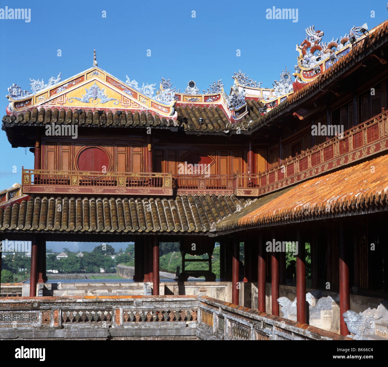 The Ngo Mon Gate (Moon Gate), the Citadel, Hue, UNESCO World Heritage Site, Vietnam, Indochina, Southeast Asia, - Stock Image