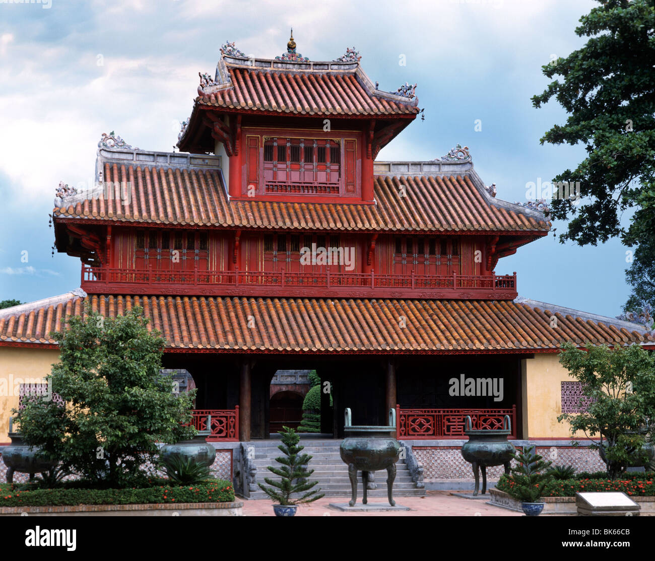 Hien Lam, the Pavilion of the Glorious Coming, The Citadel at Hue, Vietnam, Indochina, Southeast Asia, Asia - Stock Image