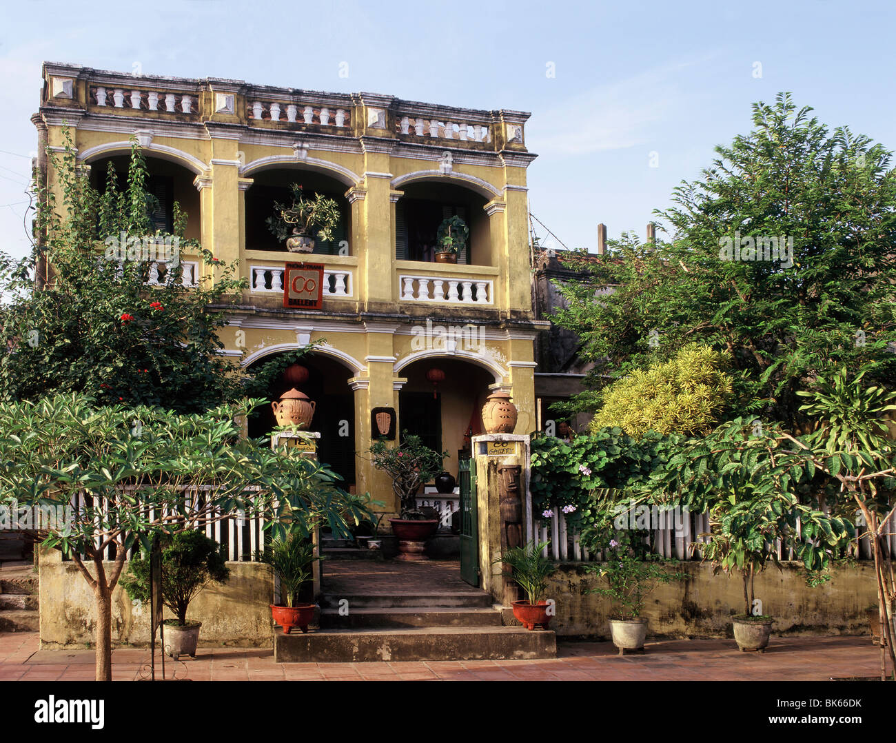 Exterior of a Chinese house with French influence in Hoi An, Vietnam, Indochina, Southeast Asia, Asia&#10, - Stock Image