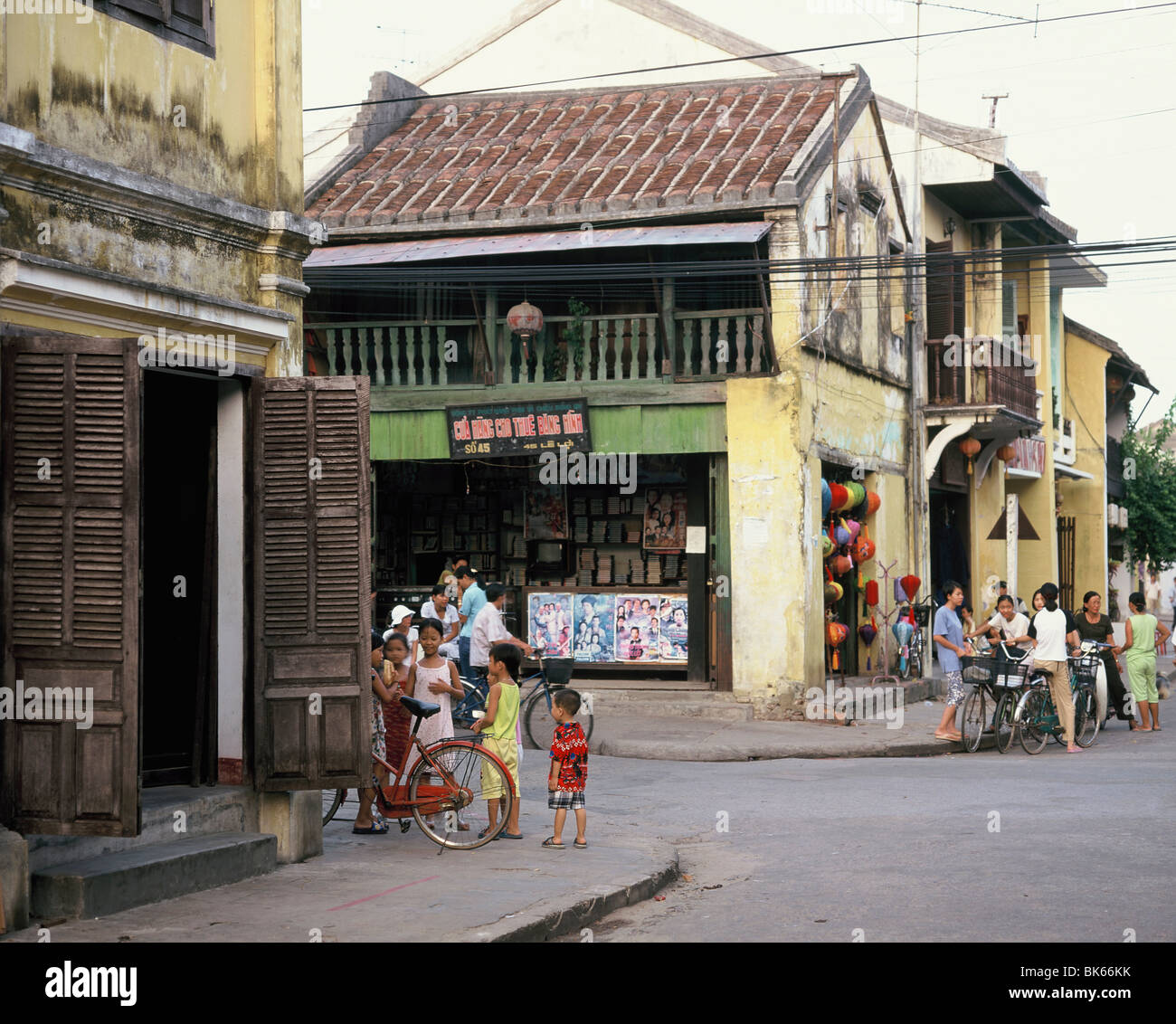 Shophouses in Hoi An, Vietnam, Indochina, Southeast Asia, Asia&#10, - Stock Image