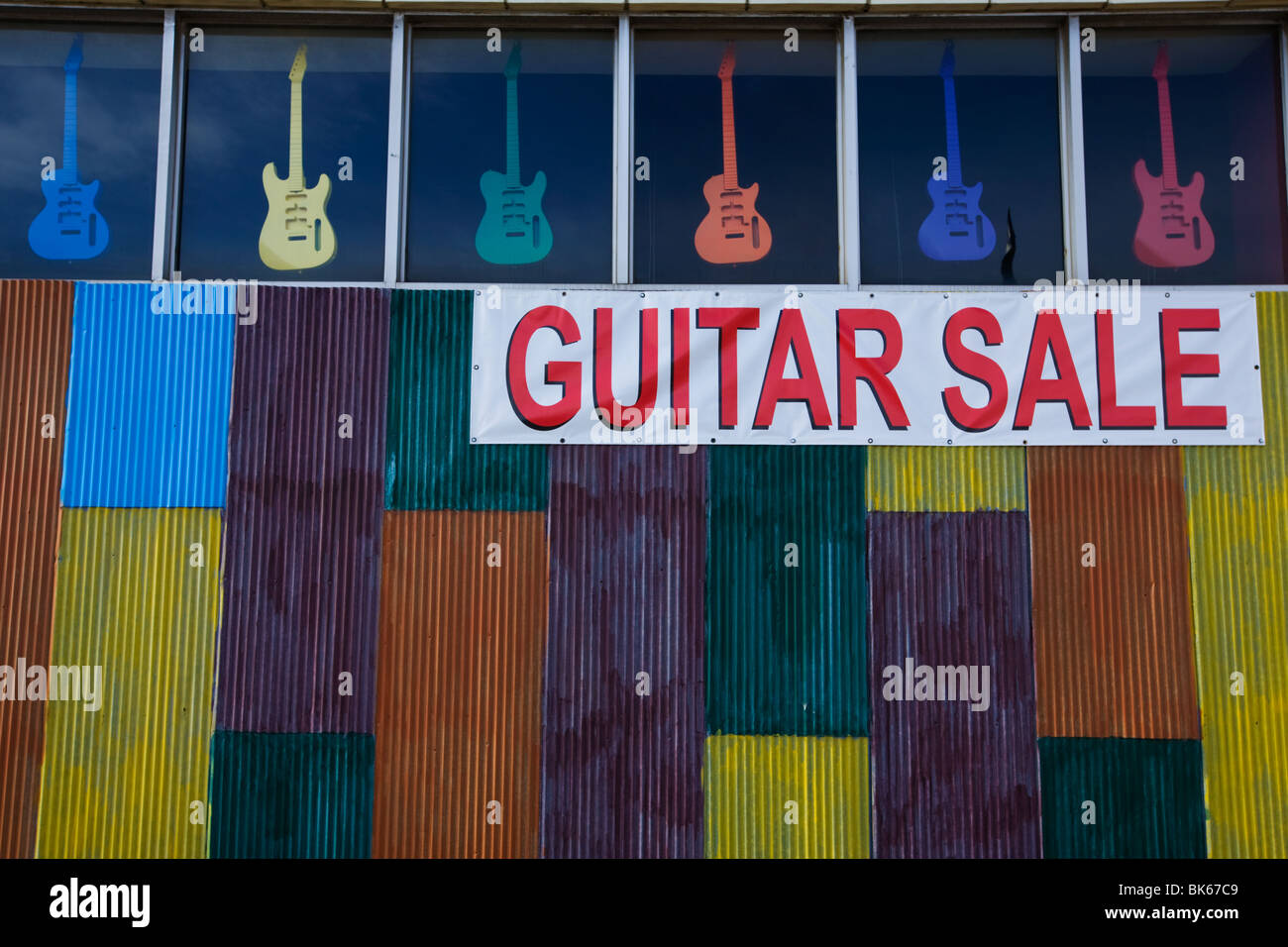 Guitar workshop in Memphis, Tennessee - Stock Image