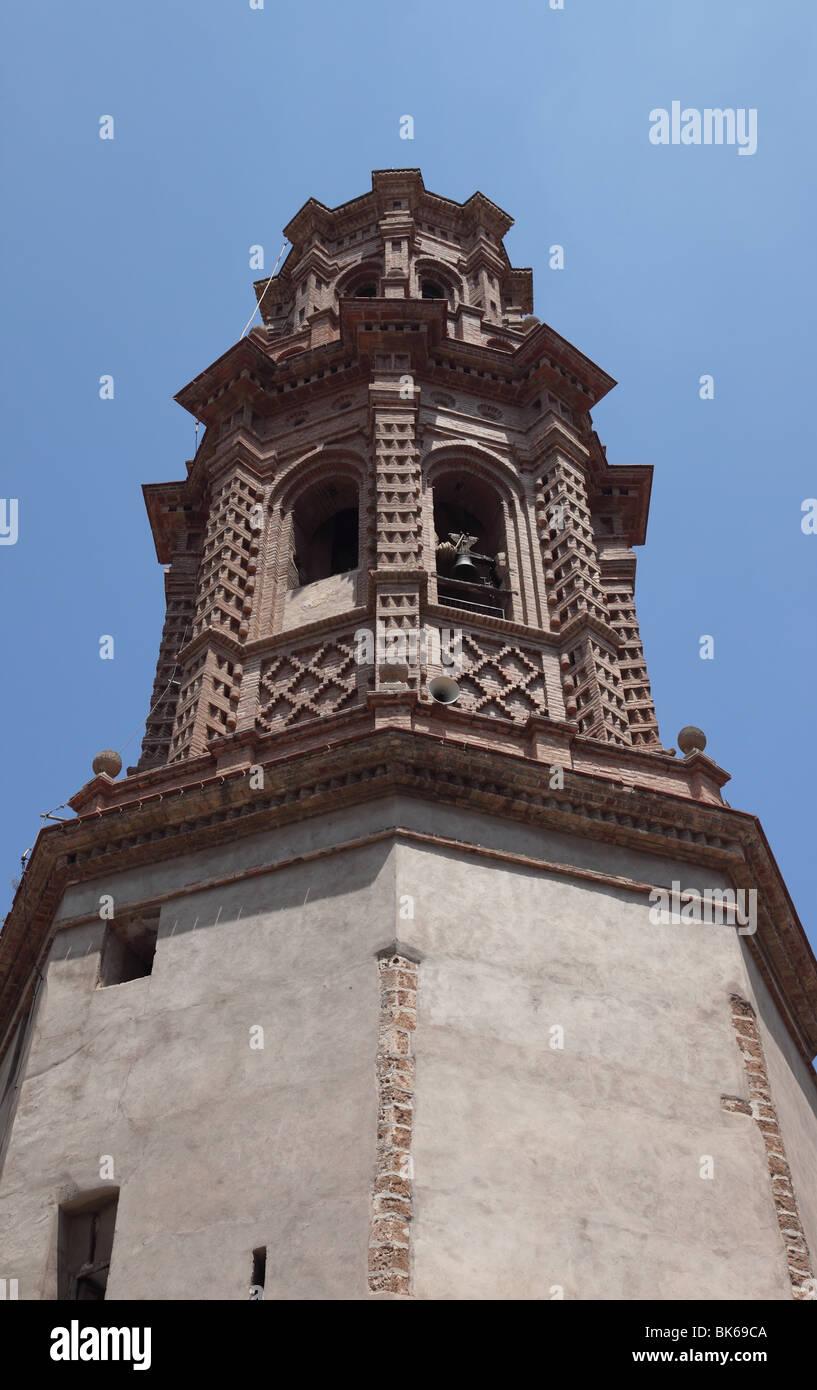 The Mudéjar Torre de las Campanas (Tower of the Bells) in the Village of Jerica Castellón Province Spain - Stock Image