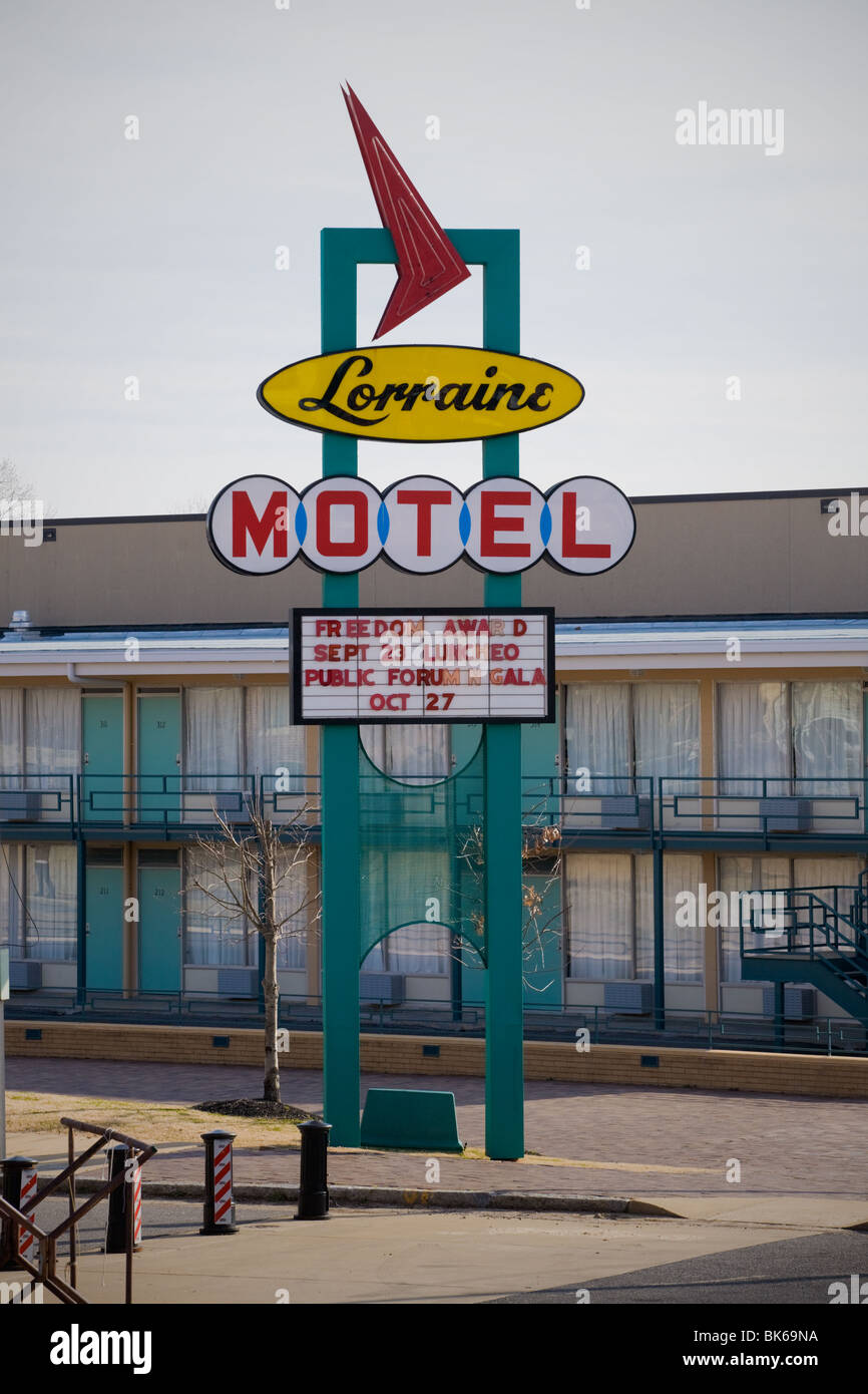 Lorraine Motel where King was assassinated is now National Civil Rights Museum, Memphis, Tennessee - Stock Image