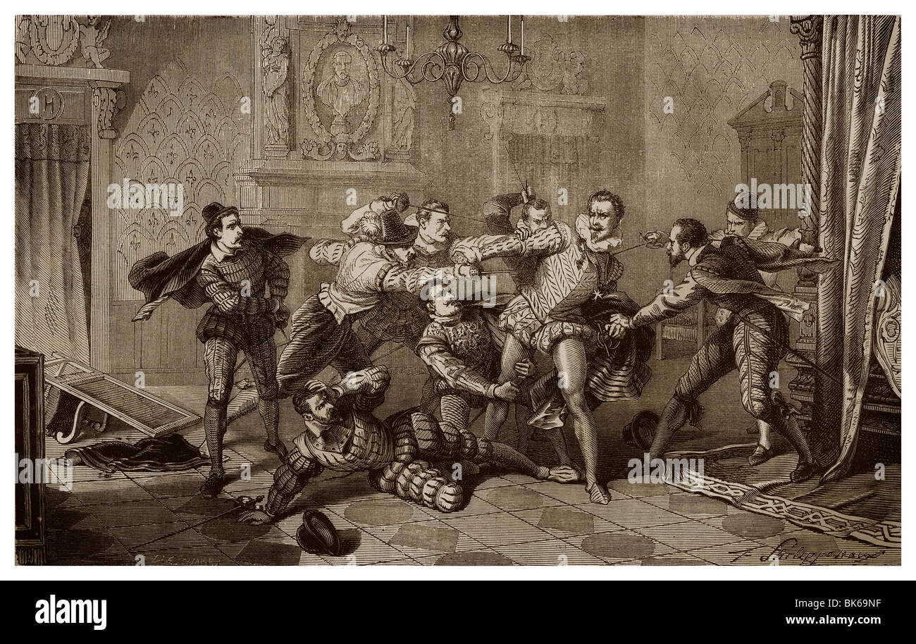 On 23rd December 1588, in the Château de Blois, assassination of Henry I, Duke of Guise. - Stock Image
