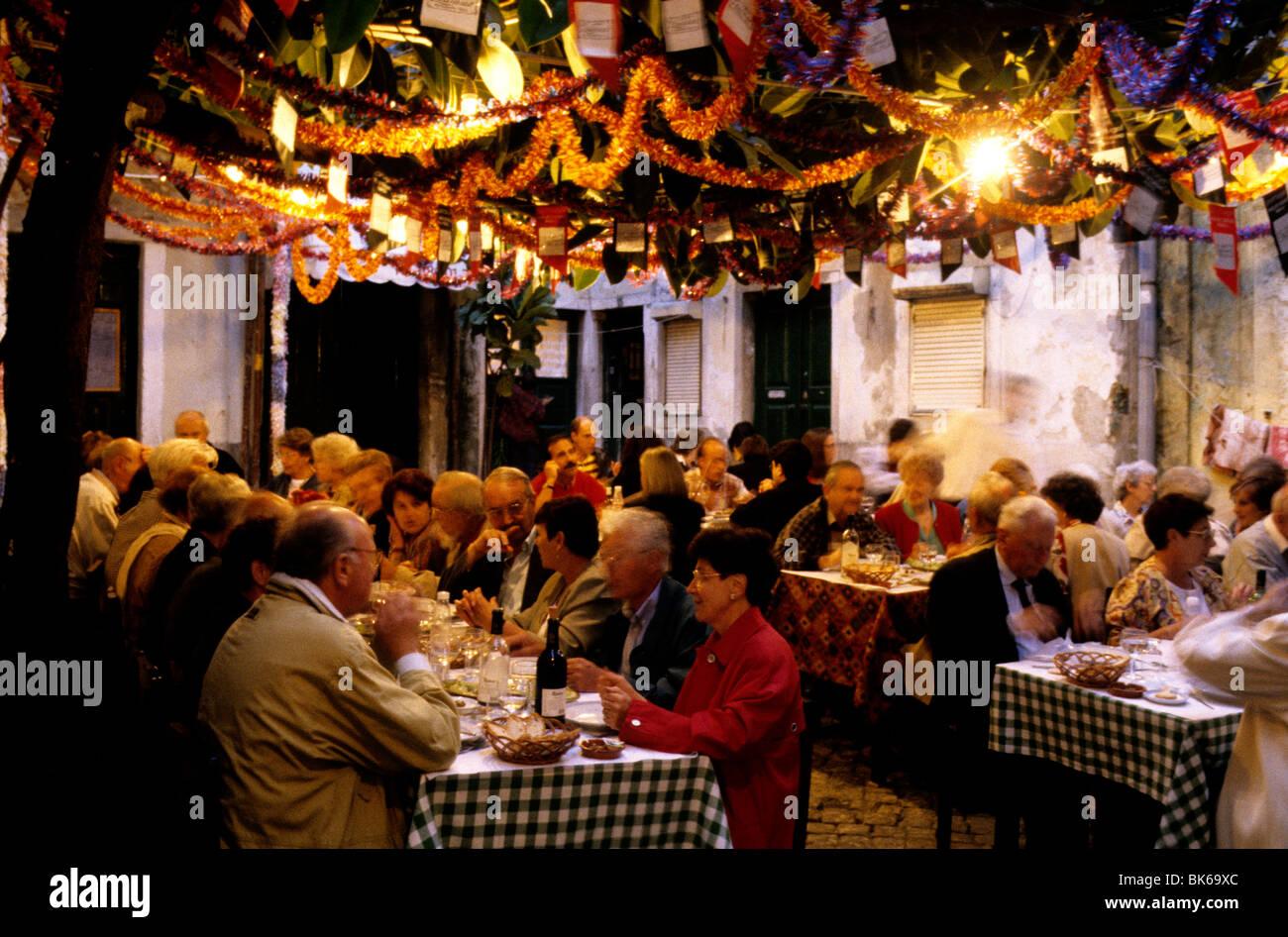 busy restaurant scene. The Busy And Colourful Lautasco Restaurant In Lisbon\u0027s Alfama District Scene