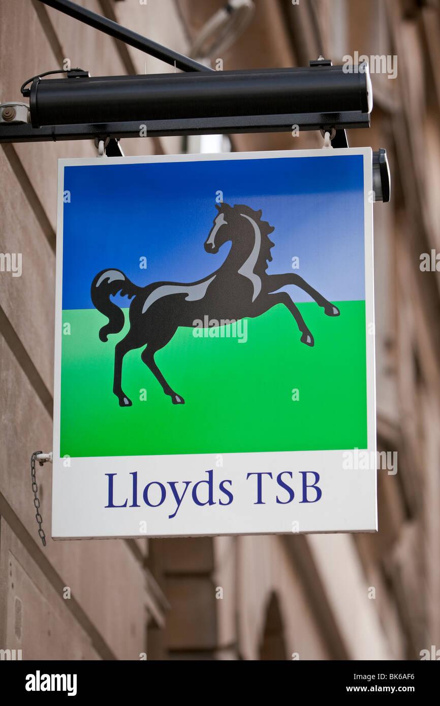 Lloyds TSB bank sign UK - Stock Image