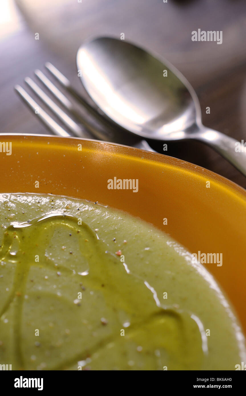 Pureed vegetables dish on the table Stock Photo