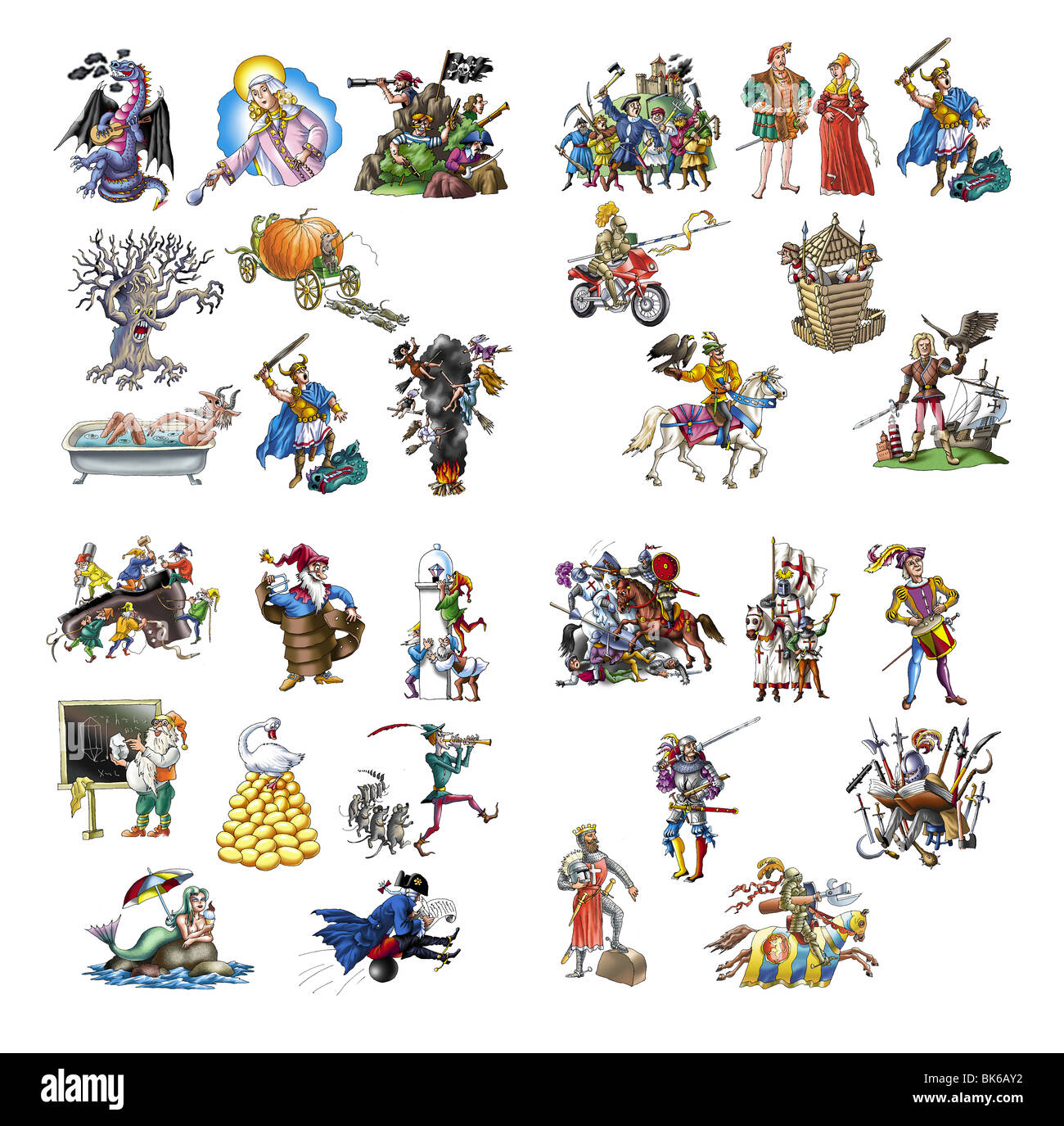 Legends and fairy tales_2 - Stock Image