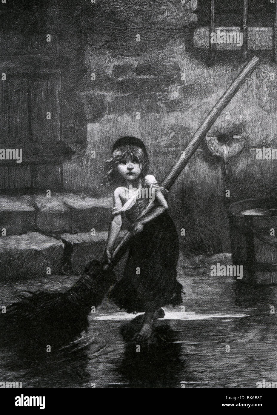 Image result for le miserables street urchin with broom""