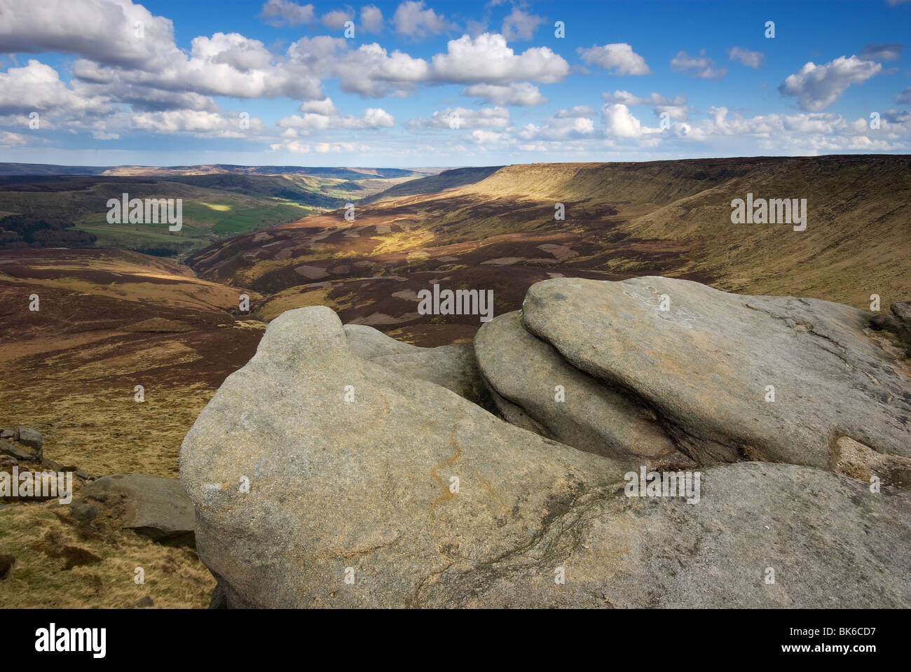 View from Fairbrook Naze, The Peak District National Park, UK, England - Stock Image