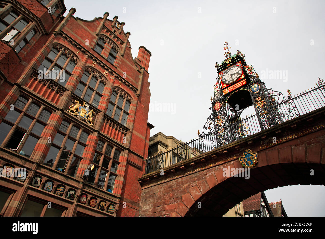 lock Tower Eastgate Street Chester City England UK United Kingdom EU European Union Europe - Stock Image