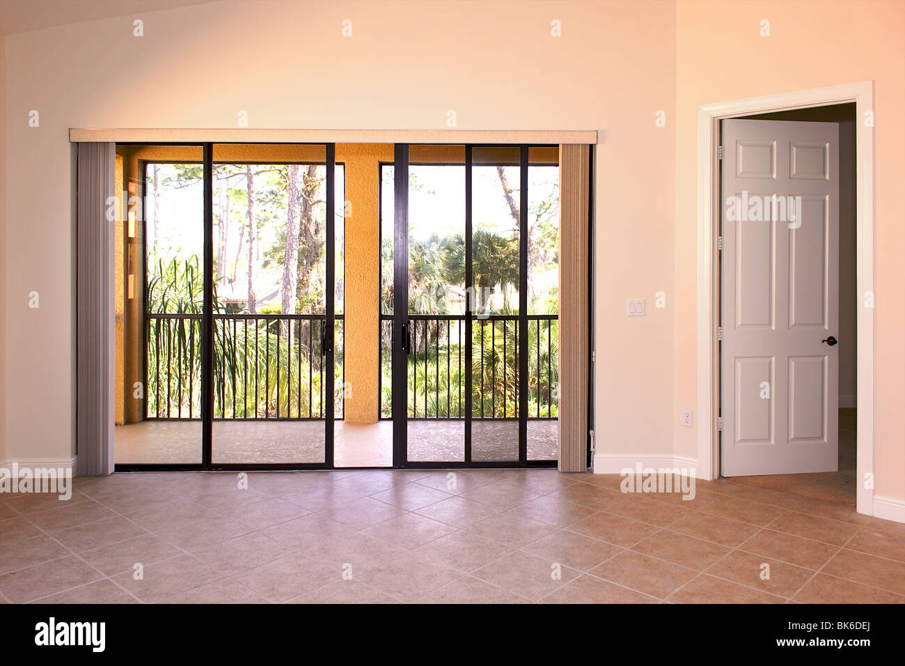 Great Room In Florida Condo Showing Great Room With Sliding Glass