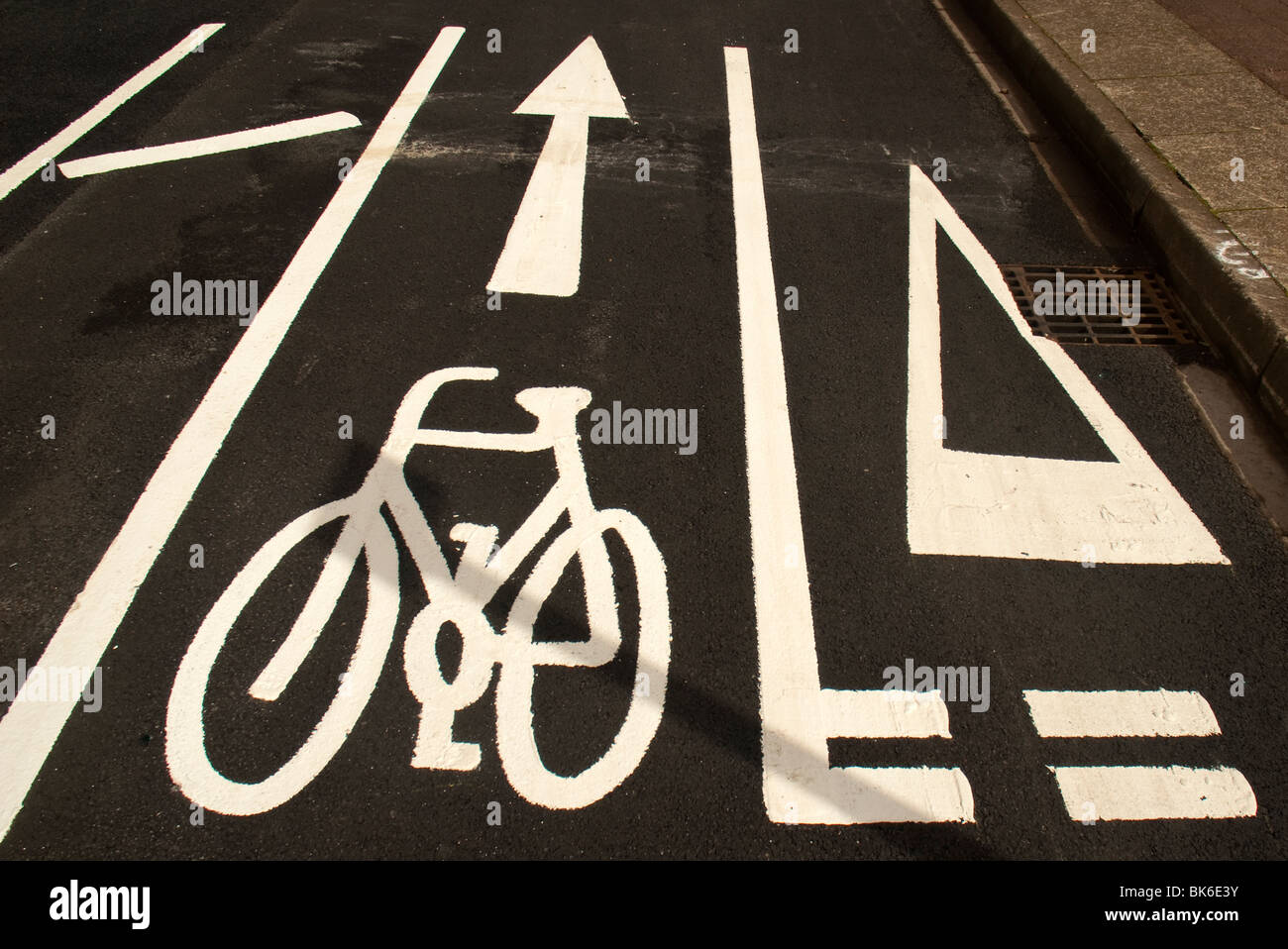 cycle lane - Stock Image