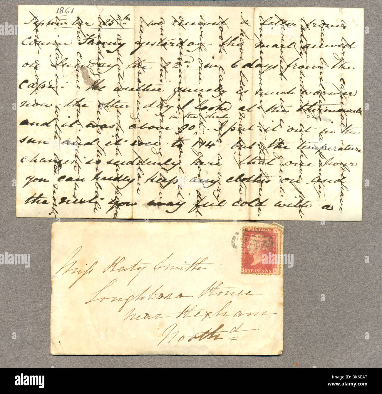 Victorian envelope with letter showing cross writing stock photo victorian envelope with letter showing cross writing thecheapjerseys Image collections