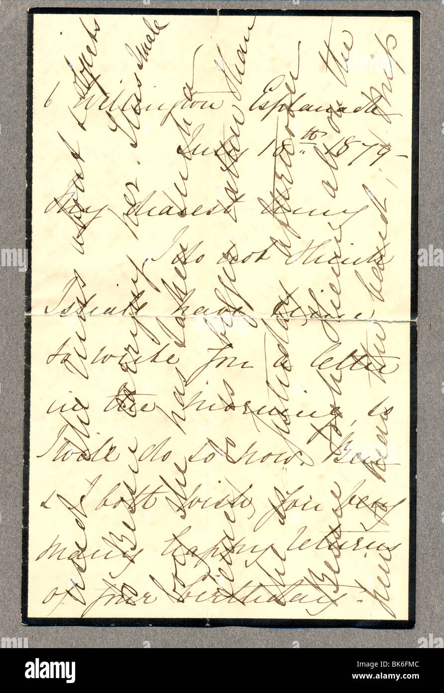 Victorian letter on mourning paper showing cross writing stock photo victorian letter on mourning paper showing cross writing thecheapjerseys Gallery