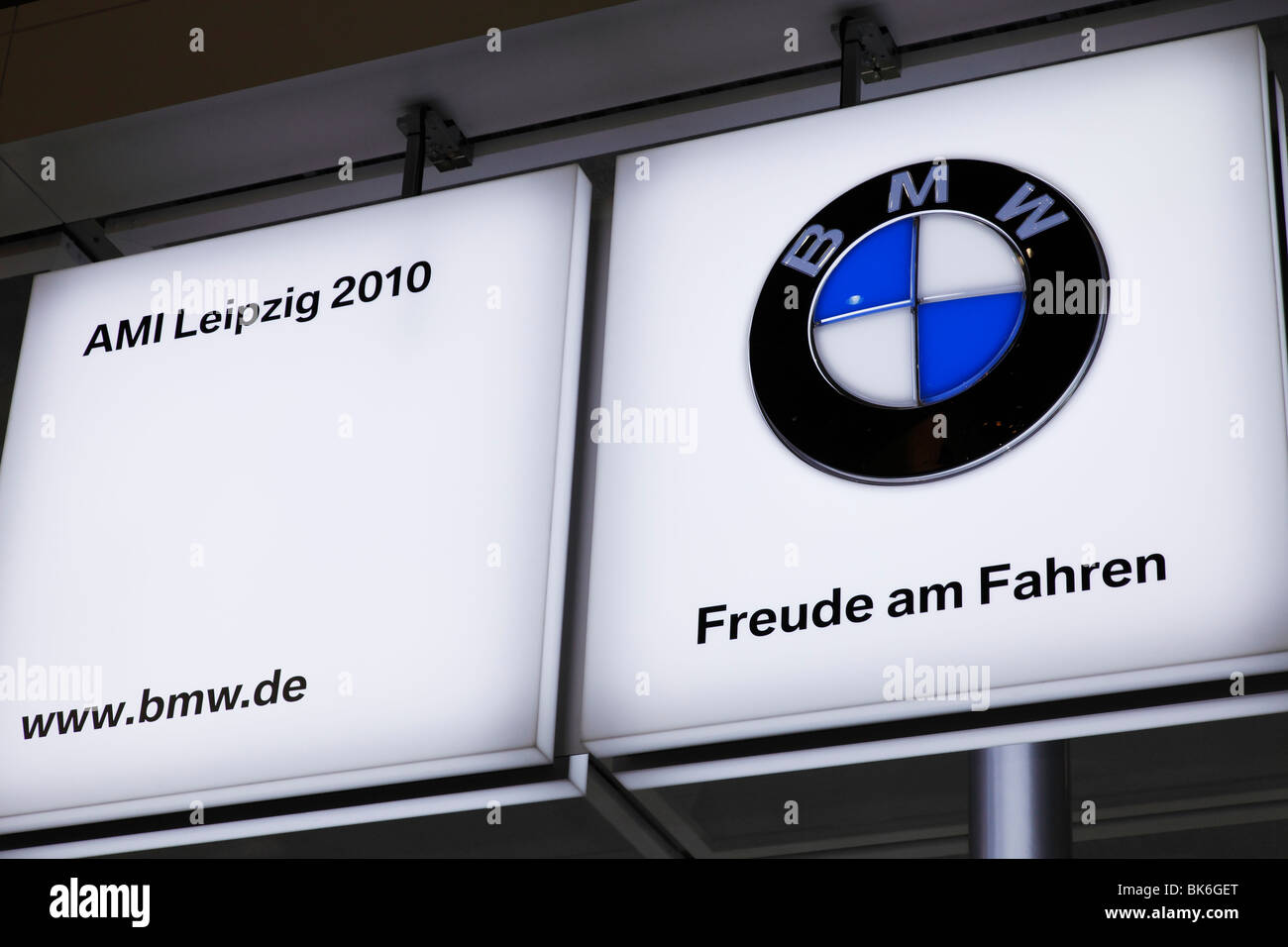 BMW at the Auto Mobil International (AMI) - the Motor Show 2010 in Leipzig, Germany - Stock Image