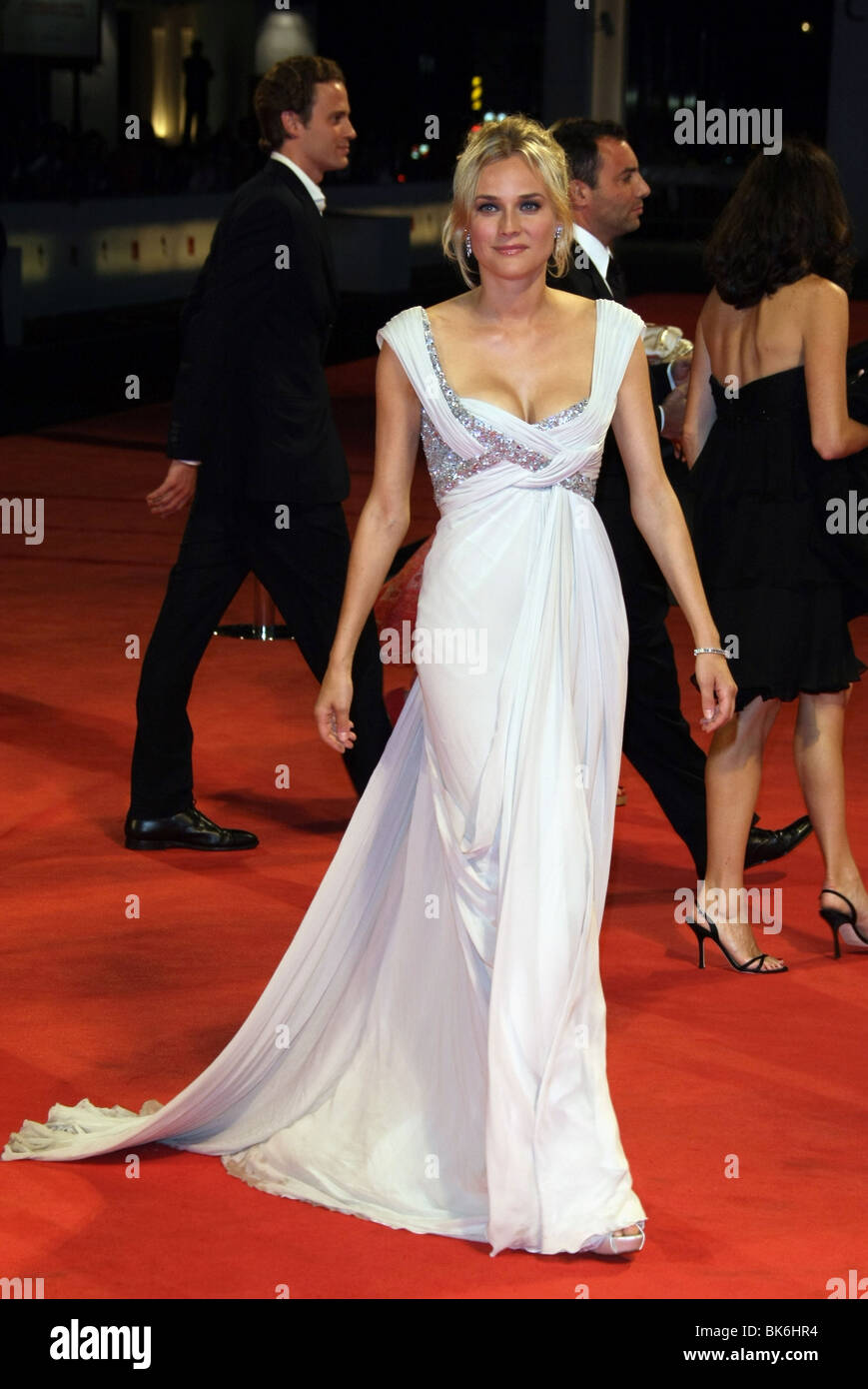 DIANE KRUGER THE HUNTING PARTY PREMIERE 64TH VENICE FILM FESTIVAL LIDO VENICE ITALY 03 September 2007 - Stock Image