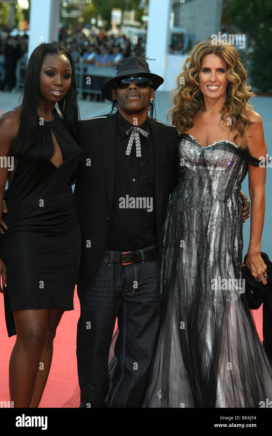 COOLIO & GUESTS TIM BURTON GOLDEN LION LIFE TIME AWARD 64TH VENICE FILM FESTIVAL LIDO VENICE ITALY 05 September - Stock Image