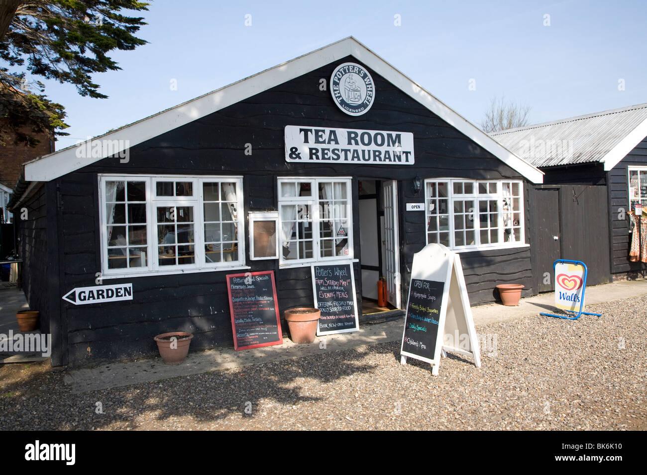 Tea Room and restaurant Walberswick, Suffolk - Stock Image