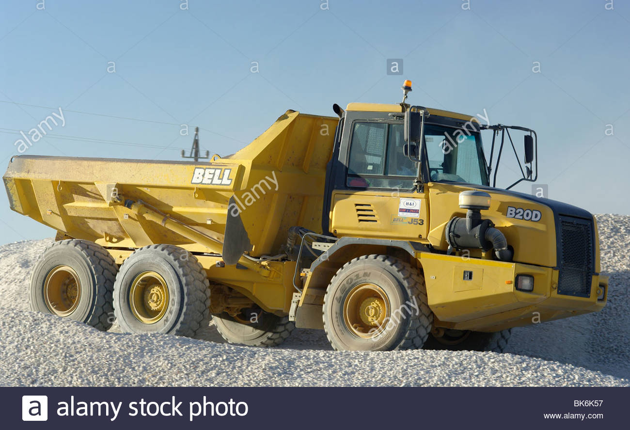 African heavy duty construction vehicle on a building site