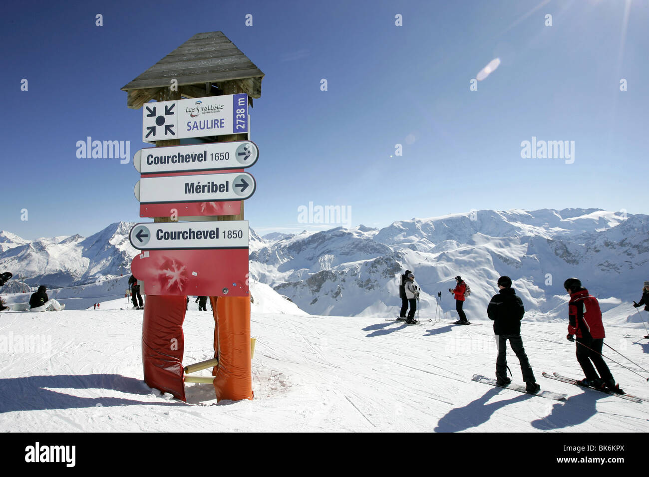 Ski Sign Courchevel France Stock Photos Ski Sign Courchevel France