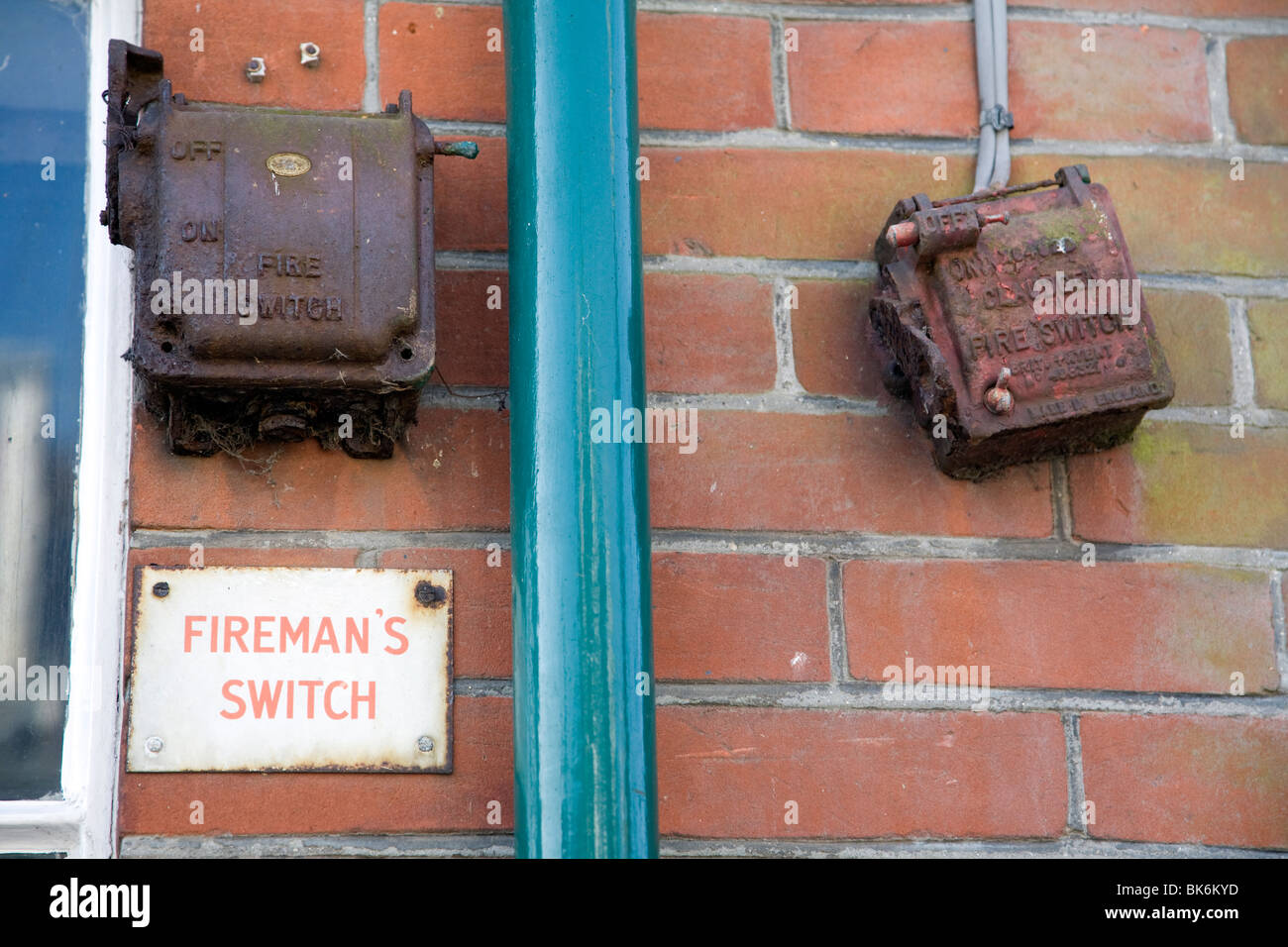 Old Fireman's switch mechanisms, Walberswick, Suffolk - Stock Image