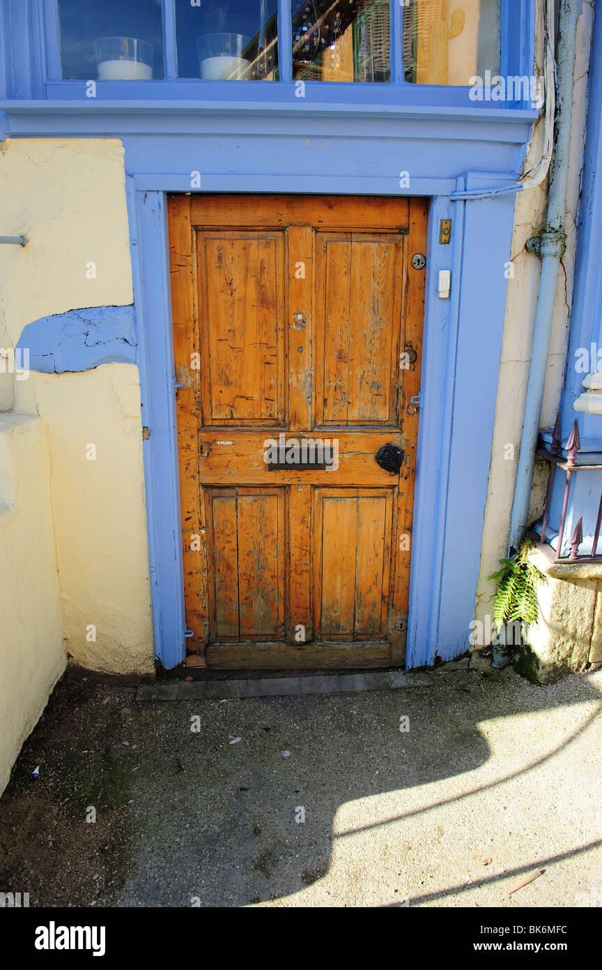 A wooden door - Stock Image