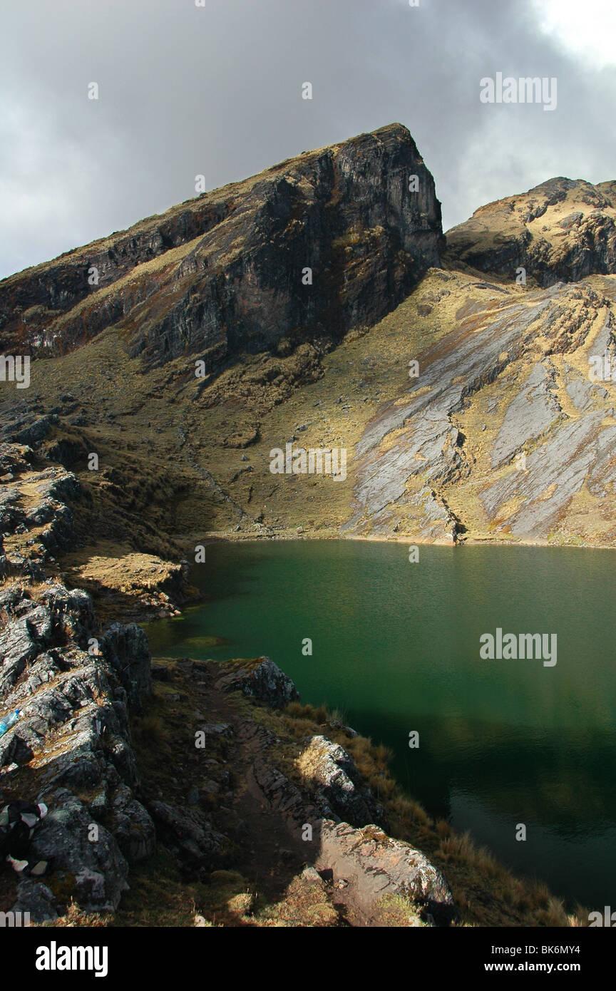 Scene from the Cordillera Real in Bolivia. Stock Photo