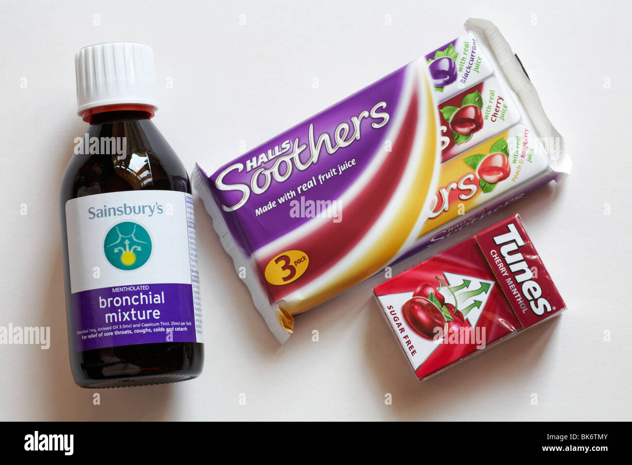 A selection of medications for a cough - Stock Image
