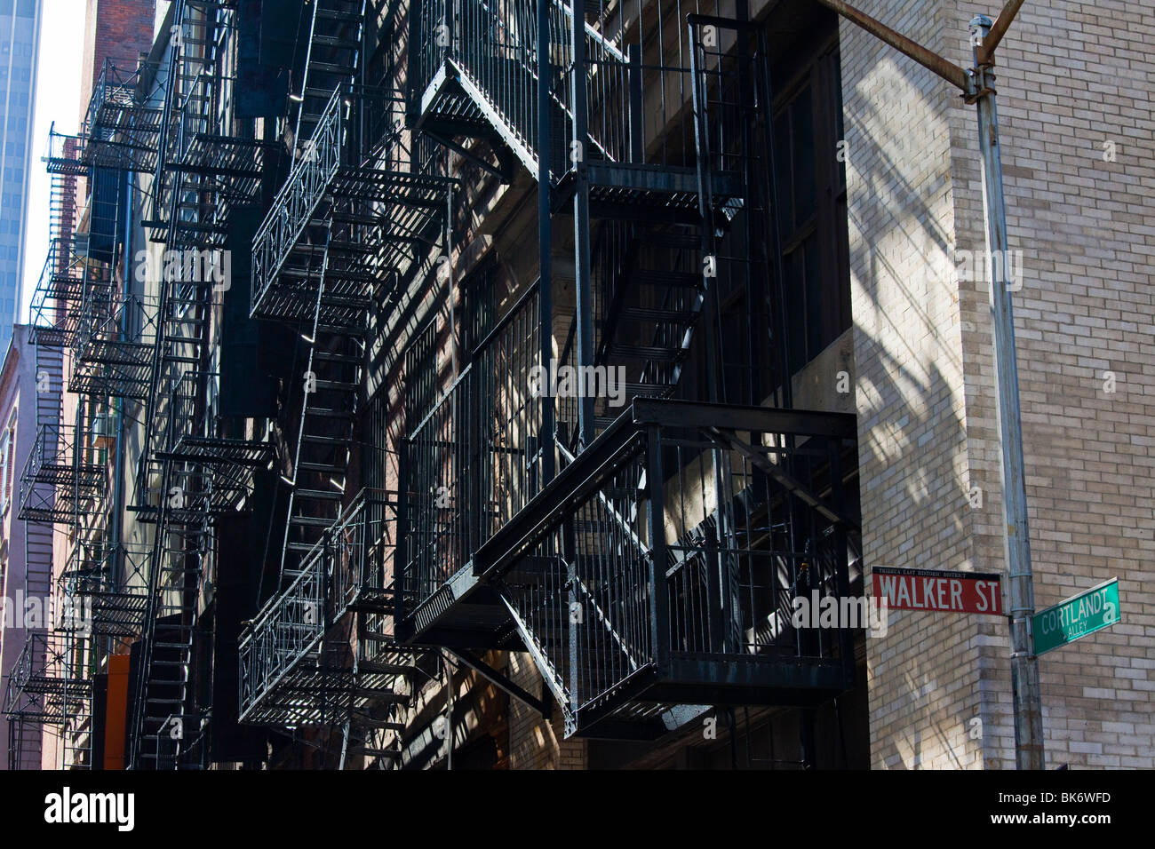 Cortlandt Alley in Tribeca, Manahattan, New York Stock Photo