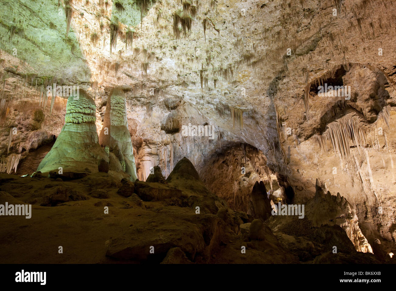 Inside a Cave, Carlsbad Caverns, New Mexico - Stock Image