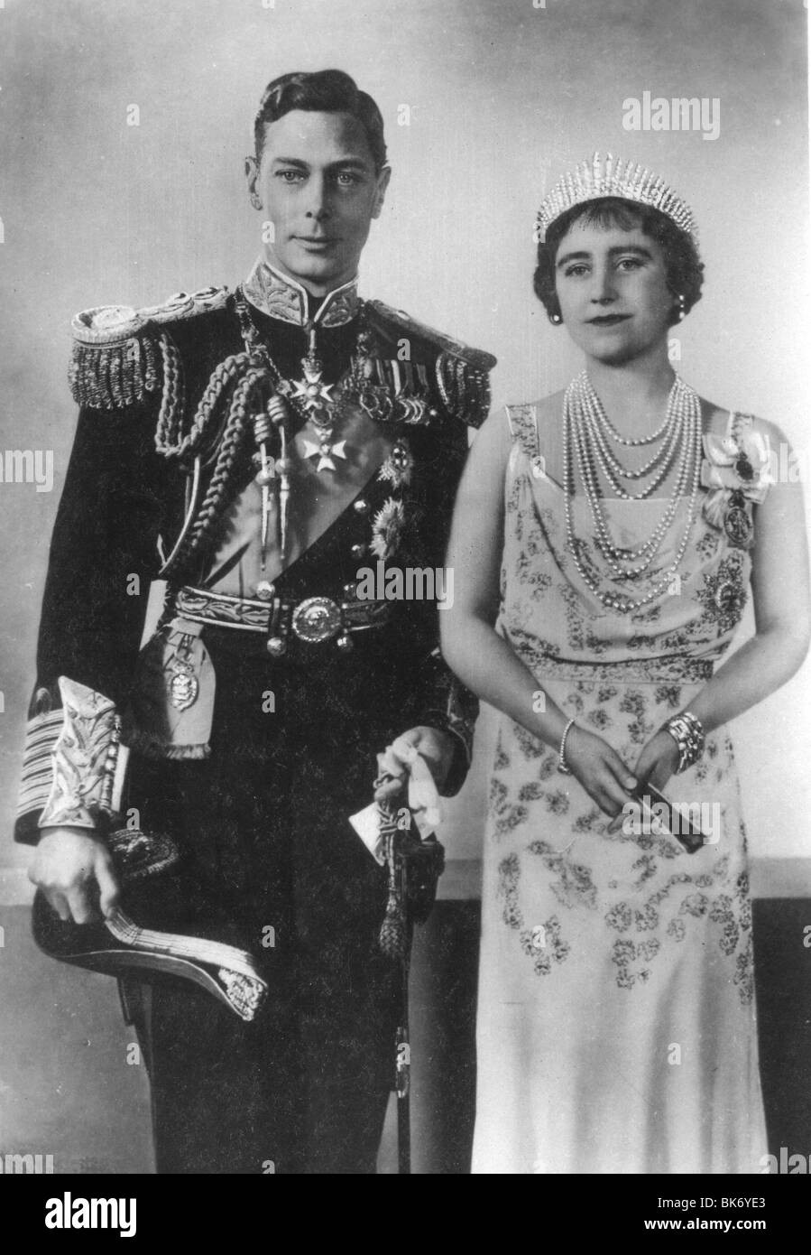 KING GEORGE VI and QUEEN ELIZABETH BOWES-LYON Stock Photo