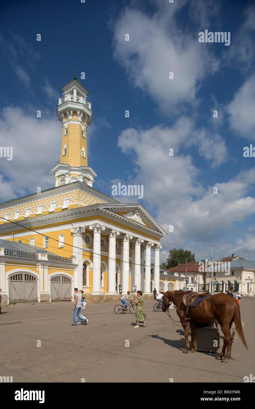 Russia,Golden Ring,Kostroma,Fire Alarm-tower,1823-26,Architect P. Fursov,Central Square - Stock Image