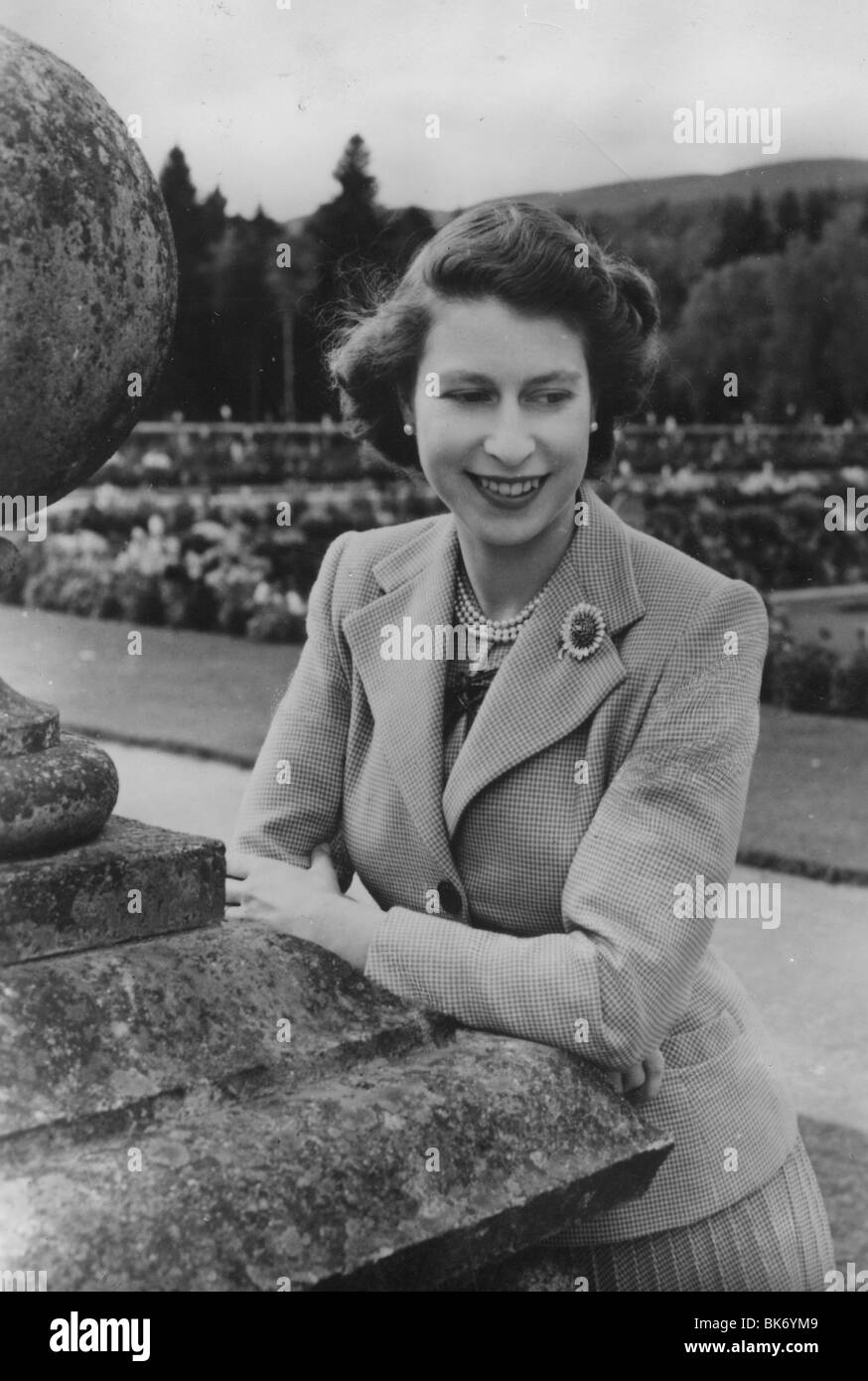 QUEEN ELIZABETH  II IN 1949 - Stock Image