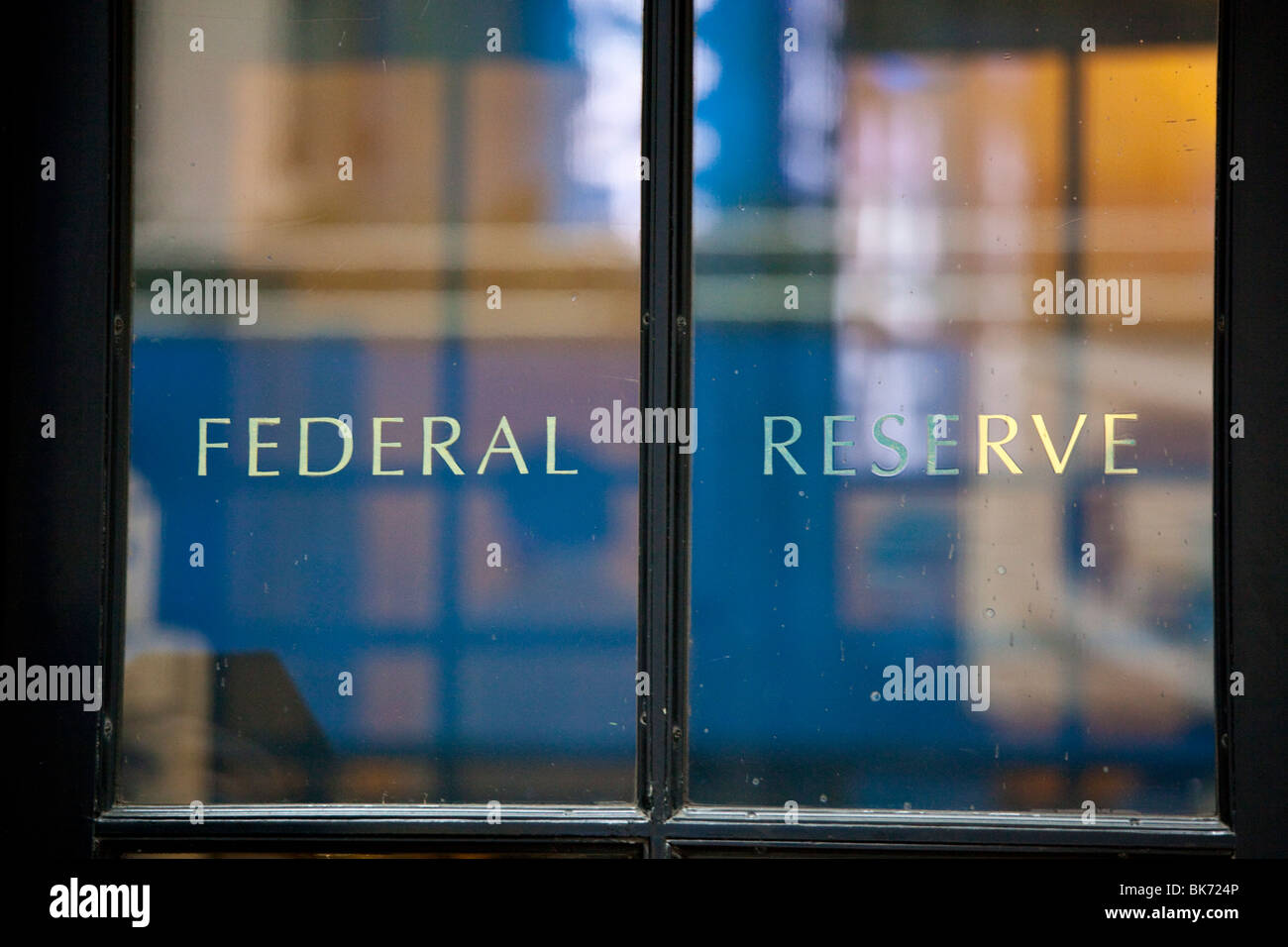 Federal Reserve Bank, Manhattan, New York City - Stock Image