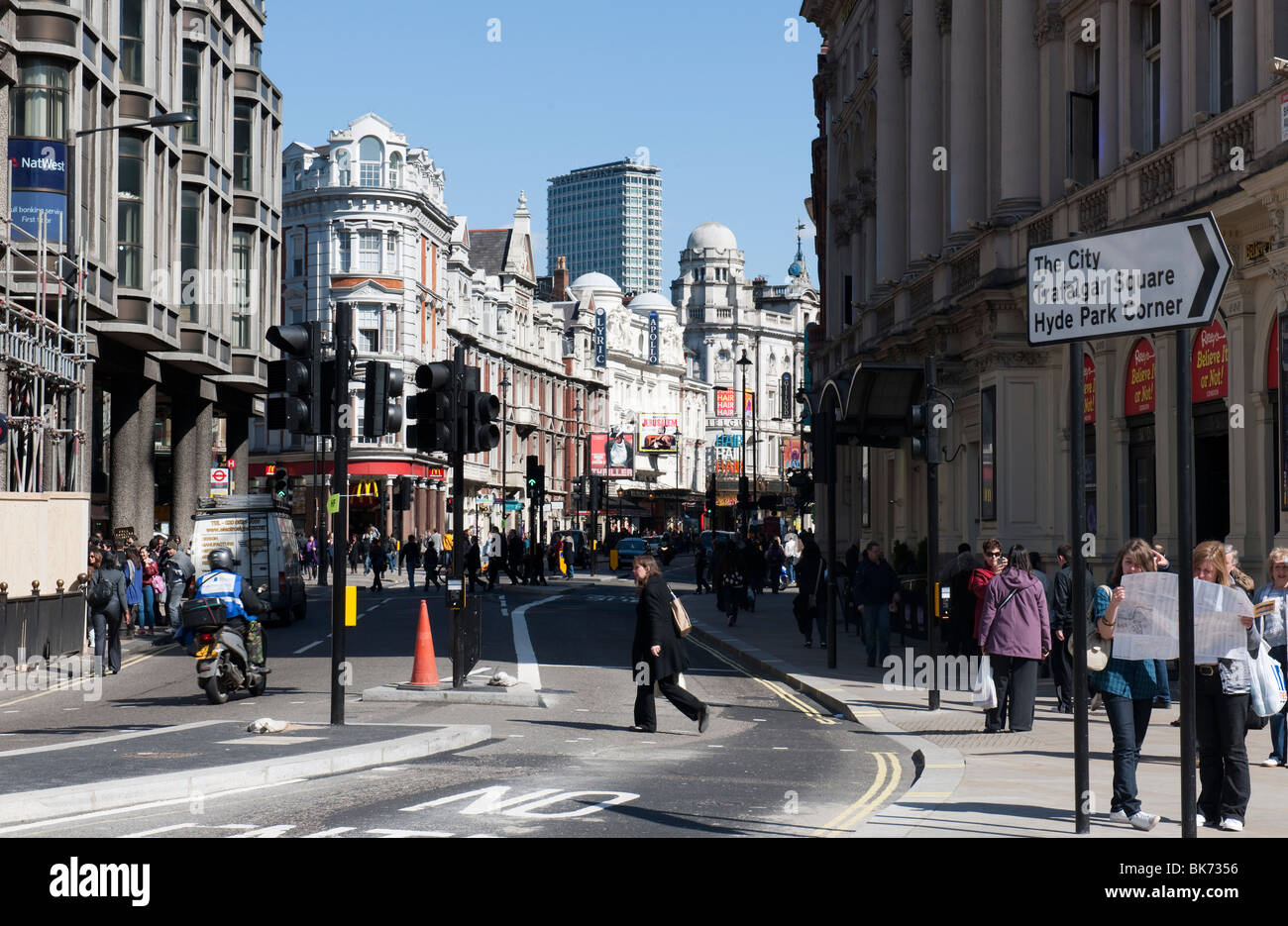 Shaftsbury Avenue, London's West End Theatreland - Stock Image