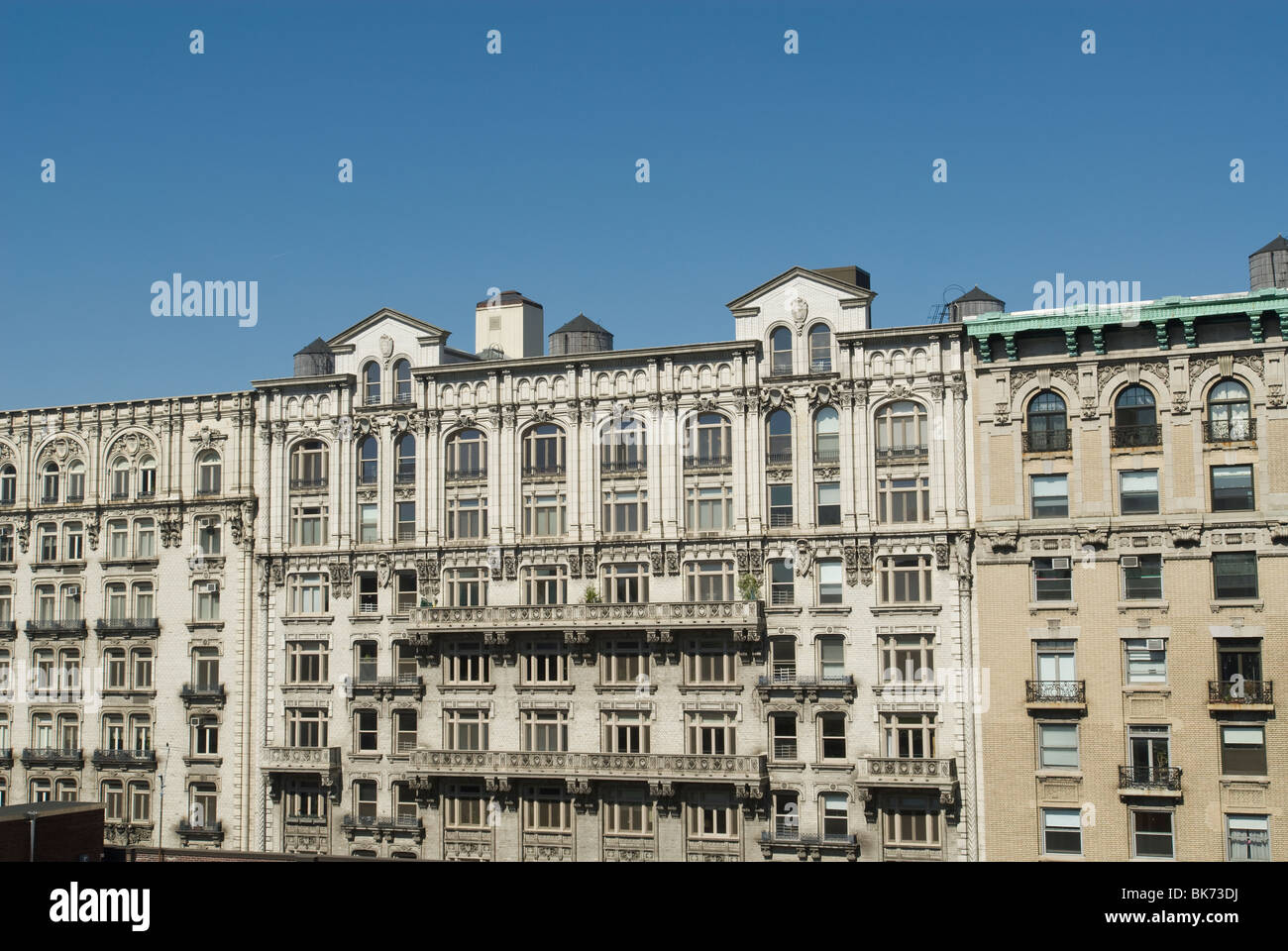 Apartment building in the Morningside Heights neighborhood in New York on Wednesday, April 14, 2010. (© Richard - Stock Image