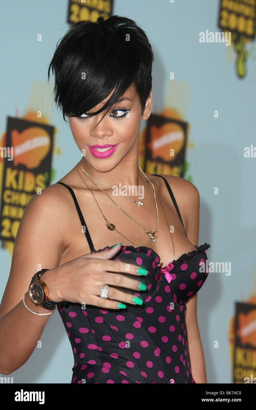 RIHANNA NICKELODEON'S 21ST KIDS CHOICE AWARDS UCLA WESTWOOD LOS ANGELES USA 29 March 2008 - Stock Image