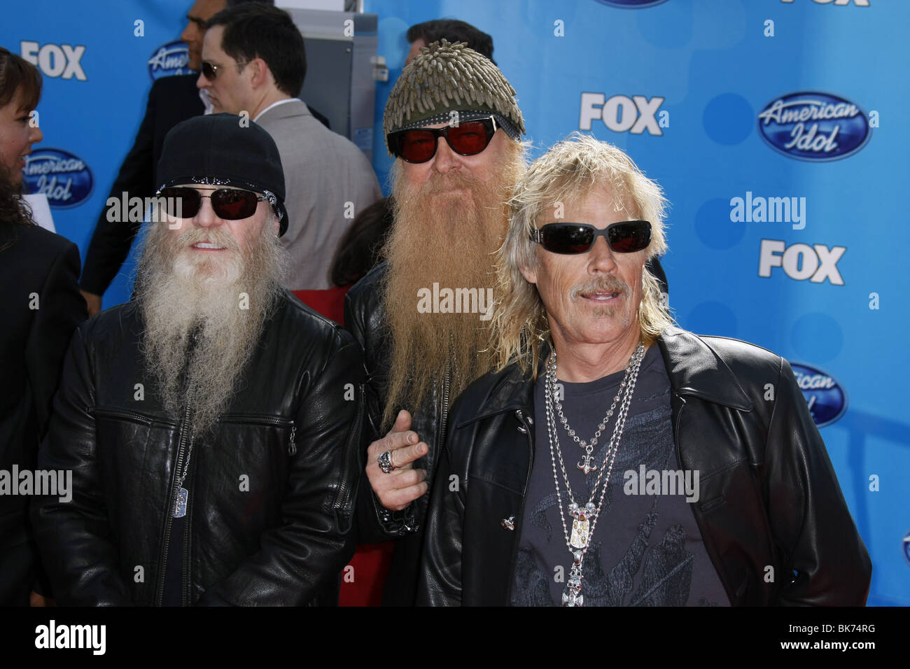 ZZ TOP AMERICAN IDOL GRAND FINALE DAY 2 NOKIA THEATRE DOWNTOWN LOS ANGELES USA 21 May 2008 - Stock Image
