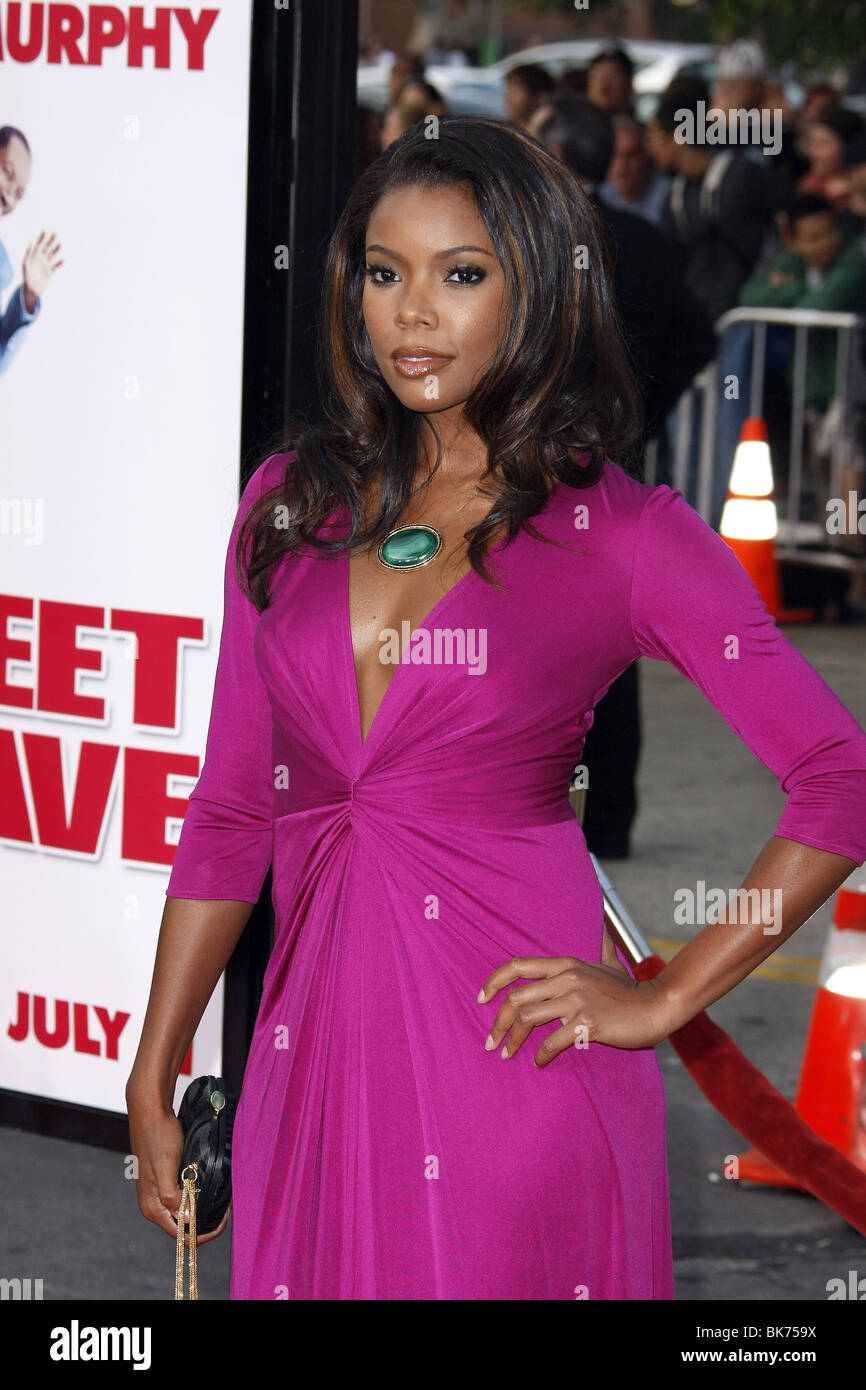 GABRIELLE UNION MEET DAVE LOS ANGELES PREMIERE WESTWOOD LOS ANGELES USA 09 July 2008 - Stock Image