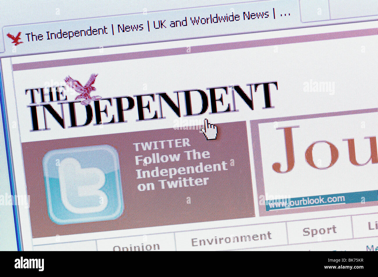The Independent Newspaper Online - Stock Image