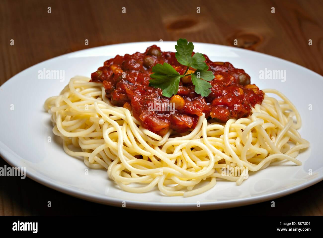 Spaghetti bolognese, traditional italian food - Stock Image